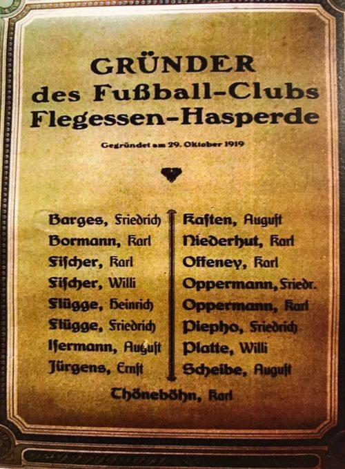 Gründertafel FC Flegessen_Hasperde